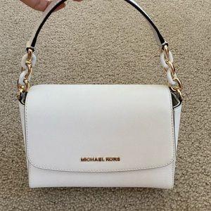 Michael Kors White Sofia Crossbody and handle bag